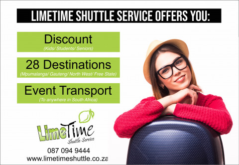 Where to can you travel with Limetime Shuttle Service.