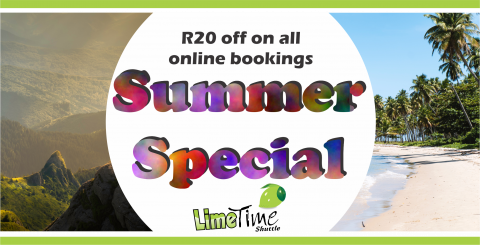 Limetime Shuttle ~ Great Summer Special !