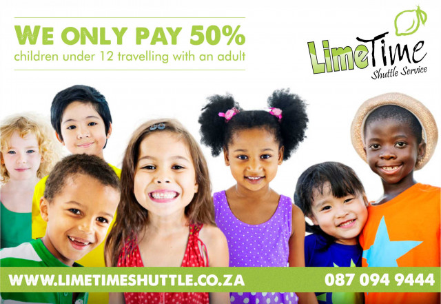 Children under 12 travelling with an adult pay only 50% of the ticket price to any of our destination.