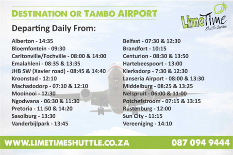Daily Shuttle Destinations