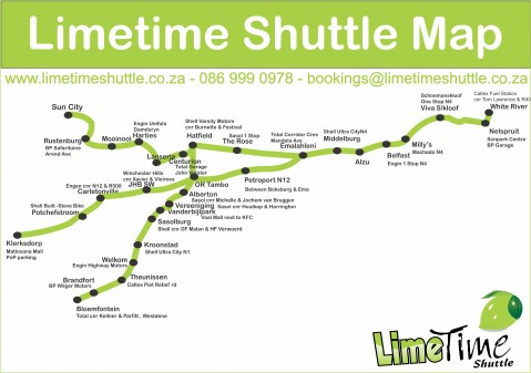 Limetime Shuttle Service ~ Daily Shuttle from NELSPRUIT !