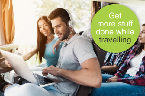 Get more done whilst on your next shuttle trip with Limetime Shuttle.